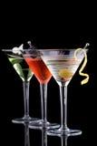 经典鸡尾酒马蒂尼鸡尾酒多数普遍的系列 免版税图库摄影