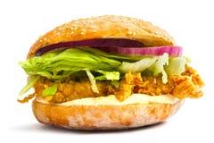 经典鸡汉堡 免版税库存照片
