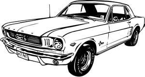 经典Ford Mustang例证 皇族释放例证
