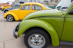 经典VW甲虫 免版税库存照片