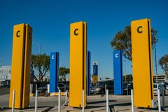 经济停车场C 库存图片