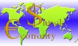 经济冲击 库存照片