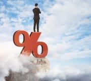 经济和百分比概念 免版税库存照片