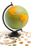 经济地球 库存图片