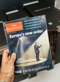 经济学家的盖子的伊曼纽尔Macron 免版税库存照片