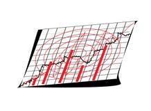 经济情况统计 库存照片