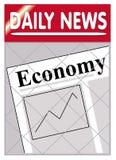 经济报纸 免版税库存图片