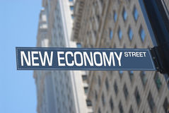 经济新的街道 库存照片