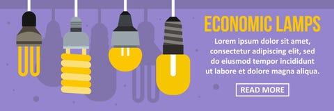 经济灯横幅水平的概念 库存例证