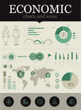 经济infographic 库存照片