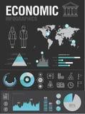 经济infographic 免版税库存照片
