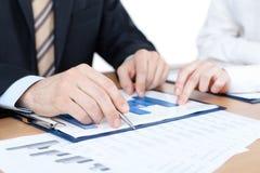 经理与绘制一起使用 免版税库存图片