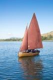 经验丰富的木风船 库存图片
