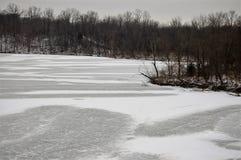 结冰的湖和仍然 免版税库存图片