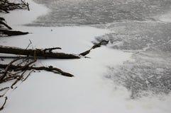 结冰的湖和仍然 库存照片