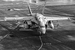 结冰的F/A-18大黄蜂 免版税库存图片