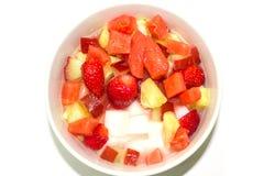 结冻布丁水果沙拉 库存照片