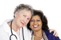 结合医生患者信任 免版税库存图片
