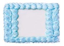 结块以被隔绝的一个花卉框架的形式在白色 图库摄影