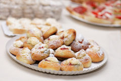 结块典型捷克的甜点 免版税库存照片