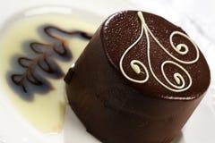 结块可口的巧克力 免版税图库摄影