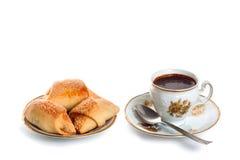 结块咖啡杯茶碟 图库摄影
