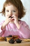 结块巧克力吃 库存照片