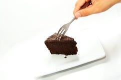 结块巧克力点心 库存图片
