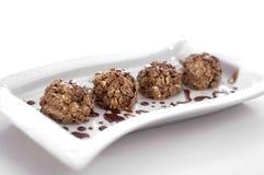 结块巧克力甜点 免版税库存图片