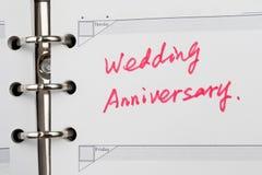 结婚周年 免版税库存照片