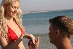结婚提议 图库摄影