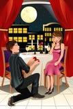 结婚提议 库存照片