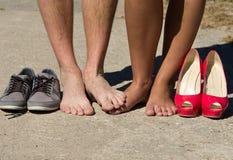 结婚的英尺 免版税图库摄影
