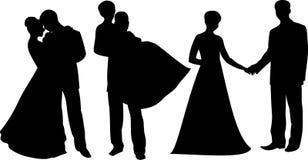 结婚的silhouette1 免版税图库摄影
