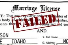 结婚证书婚礼的证明文书工作与F 库存图片