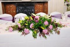结婚宴会装饰 免版税库存照片