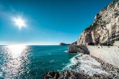 结局Ligure海边 库存照片