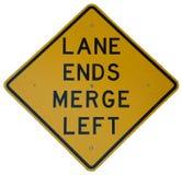 结束运输路线被留下的合并 库存图片