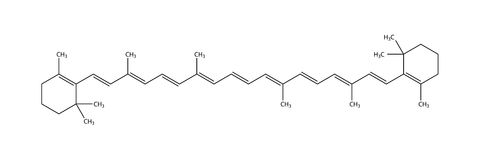 结构上β -胡萝卜素的配方 向量例证