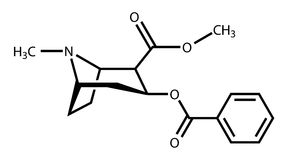 结构上可卡因的配方 库存例证