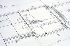 结构上图纸 免版税库存图片