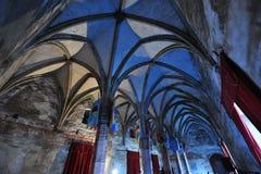 结构上城堡哥特式hunedoara样式 免版税图库摄影