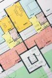 结构上楼面布置图 免版税库存照片