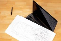 结构上画图铅笔 免版税库存照片