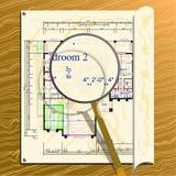 结构上被扩大化的计划 免版税库存图片