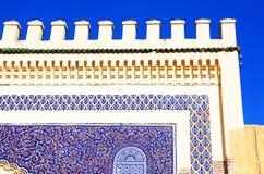 结构上详细资料摩洛哥人 免版税库存图片