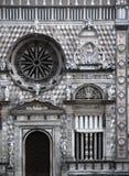 结构上贝加莫详述中央寺院意大利 免版税库存照片