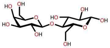 结构上配方的乳糖 库存例证