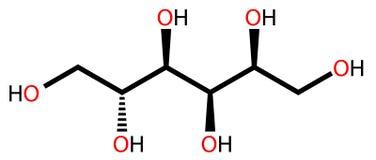 结构上配方的山梨糖醇 皇族释放例证