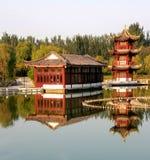 结构中国古典庭院 免版税图库摄影